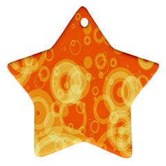 Retro Orange Circle Background Abstract Star Ornament (Two Sides)