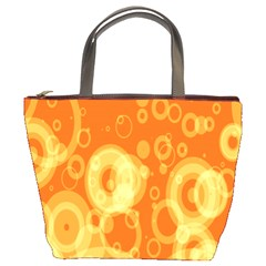 Retro Orange Circle Background Abstract Bucket Bags