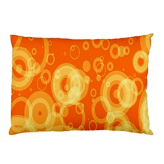 Retro Orange Circle Background Abstract Pillow Case