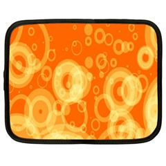 Retro Orange Circle Background Abstract Netbook Case (XXL)
