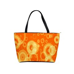 Retro Orange Circle Background Abstract Shoulder Handbags