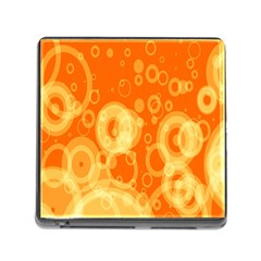 Retro Orange Circle Background Abstract Memory Card Reader (Square)