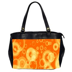 Retro Orange Circle Background Abstract Office Handbags (2 Sides)