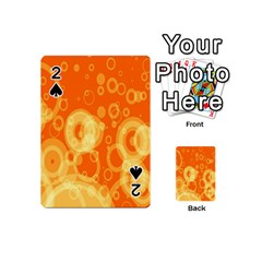 Retro Orange Circle Background Abstract Playing Cards 54 (mini)