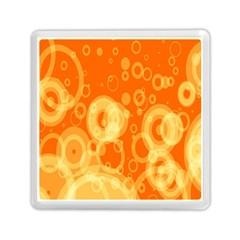 Retro Orange Circle Background Abstract Memory Card Reader (Square)
