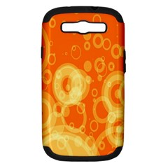 Retro Orange Circle Background Abstract Samsung Galaxy S Iii Hardshell Case (pc+silicone)