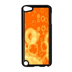 Retro Orange Circle Background Abstract Apple Ipod Touch 5 Case (black)
