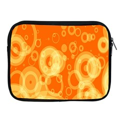 Retro Orange Circle Background Abstract Apple iPad 2/3/4 Zipper Cases