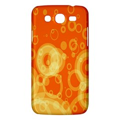 Retro Orange Circle Background Abstract Samsung Galaxy Mega 5.8 I9152 Hardshell Case