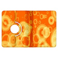 Retro Orange Circle Background Abstract Kindle Fire Hdx Flip 360 Case