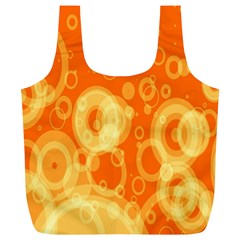 Retro Orange Circle Background Abstract Full Print Recycle Bags (l)