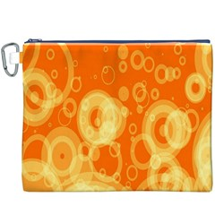 Retro Orange Circle Background Abstract Canvas Cosmetic Bag (XXXL)