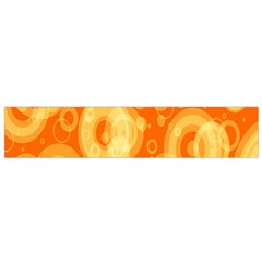 Retro Orange Circle Background Abstract Flano Scarf (small)
