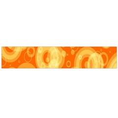 Retro Orange Circle Background Abstract Flano Scarf (large)