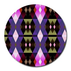 Geometric Abstract Background Art Round Mousepads