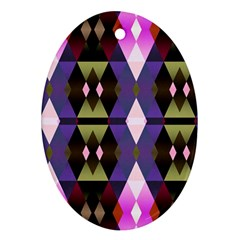 Geometric Abstract Background Art Ornament (Oval)