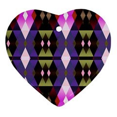 Geometric Abstract Background Art Ornament (heart)