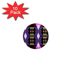 Geometric Abstract Background Art 1  Mini Magnet (10 pack)