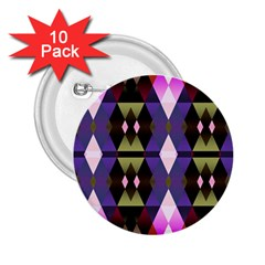 Geometric Abstract Background Art 2.25  Buttons (10 pack)