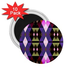 Geometric Abstract Background Art 2 25  Magnets (10 Pack)