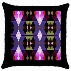 Geometric Abstract Background Art Throw Pillow Case (black)