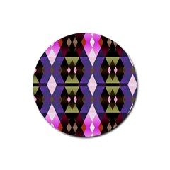 Geometric Abstract Background Art Rubber Round Coaster (4 Pack)