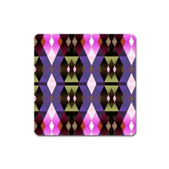 Geometric Abstract Background Art Square Magnet