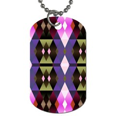 Geometric Abstract Background Art Dog Tag (One Side)