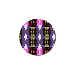 Geometric Abstract Background Art Golf Ball Marker