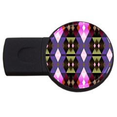 Geometric Abstract Background Art Usb Flash Drive Round (2 Gb)