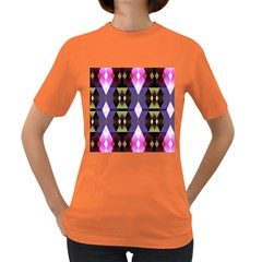 Geometric Abstract Background Art Women s Dark T-Shirt