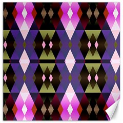 Geometric Abstract Background Art Canvas 16  x 16