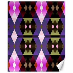 Geometric Abstract Background Art Canvas 16  x 20