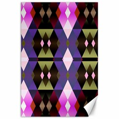 Geometric Abstract Background Art Canvas 24  X 36