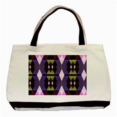 Geometric Abstract Background Art Basic Tote Bag (Two Sides)