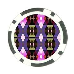 Geometric Abstract Background Art Poker Chip Card Guard
