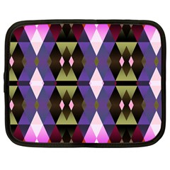Geometric Abstract Background Art Netbook Case (Large)