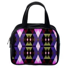 Geometric Abstract Background Art Classic Handbags (one Side)