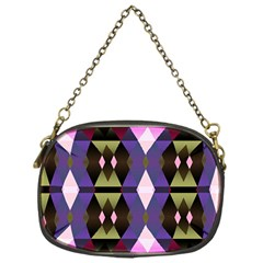 Geometric Abstract Background Art Chain Purses (One Side)