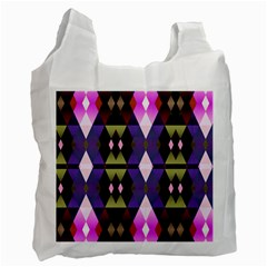 Geometric Abstract Background Art Recycle Bag (Two Side)