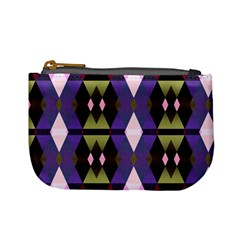 Geometric Abstract Background Art Mini Coin Purses