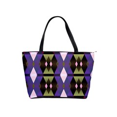 Geometric Abstract Background Art Shoulder Handbags