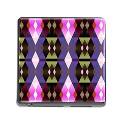 Geometric Abstract Background Art Memory Card Reader (Square)