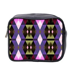 Geometric Abstract Background Art Mini Toiletries Bag 2-Side