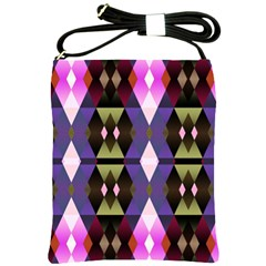 Geometric Abstract Background Art Shoulder Sling Bags