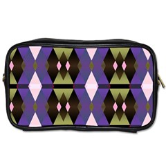 Geometric Abstract Background Art Toiletries Bags 2 Side