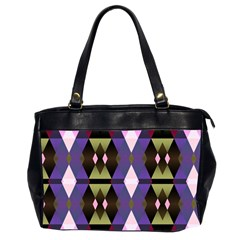 Geometric Abstract Background Art Office Handbags (2 Sides)