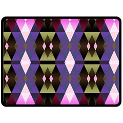 Geometric Abstract Background Art Fleece Blanket (Large)