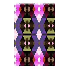 Geometric Abstract Background Art Shower Curtain 48  x 72  (Small)