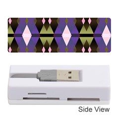 Geometric Abstract Background Art Memory Card Reader (Stick)
